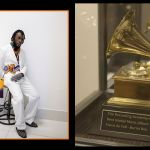 63rd Grammys: Here's The First Picture Of Burna Boy's Grammy Plaque For 'Best Global Music Album'