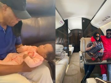 Davido's Brother, Adewale, shares a Lovely Video Of His Newborn Daughter Meeting Her Billionaire Grandfather For The First Time