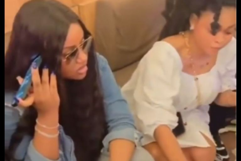 VIDEOS: Davido's Baby Mama, Chioma, Spotted Chilling In Ghana With Her Girls