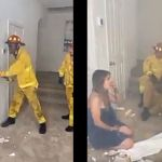 Watch The Dramatic Moment A Firefighter Rescued A Couple From A Burning Hotel Room Only To See That The Woman Is His Wife