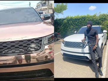 VIDEO: Kuami Eugene Pimps His Gifted Range Rover And The Car Looks Like Its Owner Is Some Village Champion Who Just Stormed His Village With A New Ride