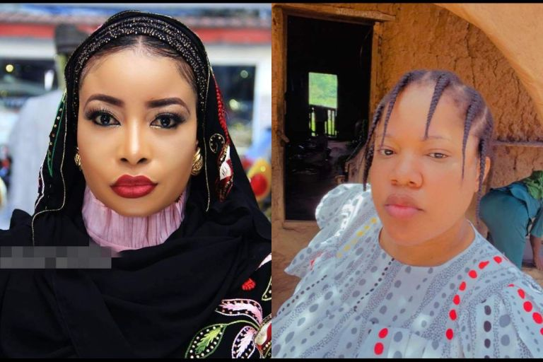 """VIDEO: """"Stop Cursing My Family"""" - Toyin Abraham In tears Over 'Salty Beef' With Lizzy Anjorin"""