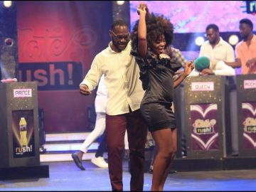 VIDEO: It Has Ended In Tears As Date Rush's 'American Girl', Nabila, Dumps Nana Kwame And Leaves To The United States