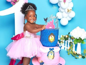 PHOTOS: Tracey Boakye Subjects Her Daughter To A Needless Photoshoot In The Name Celebrating Her 1st Birthday