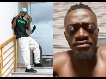 VIDEO: Lil Win In Tears As He Listens To Black Sherif's Latest Song '1st Sermon'