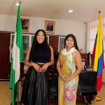 PHOTOS: BBNaija's Erica Pays A Courtesy Visit To The Consul Of Columbia To Nigeria