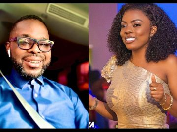 Here's A Throwback Photo Of Nana Aba Anamoah Happily Relaxed In Her Ex-boyfriend, Kojo Yankson's Arms