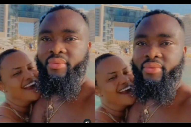 VIDEO: Nana Ama Mcbrown And Her Husband, Maxwell Mensah Enjoy Each Other's Company On A Beach In Dubai