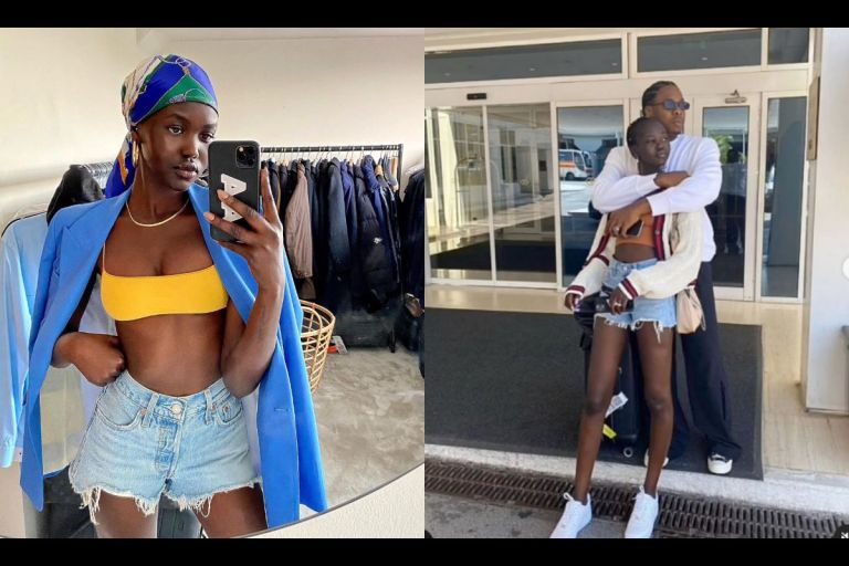 Singer Runtown's Romantic Relationship With Model Adut Akech Ends On Rocks