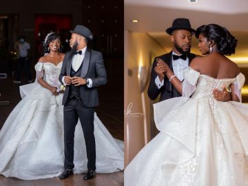 """""""He who finds a WIFE, finds a GOOD thing and obtain FAVOR from GOD"""" - Kalybos Says After His Wedding With Ahuofe Patri"""
