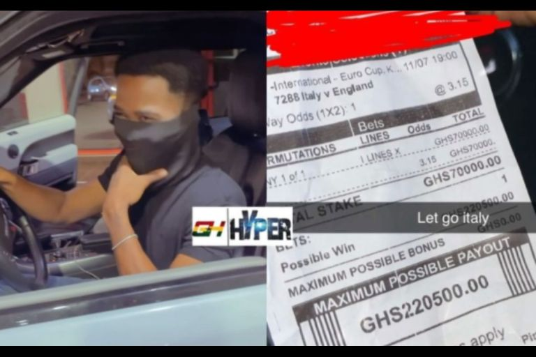 VIDEO: Young Ghanaian Man Bets A Whopping Ghc70,000 On Italy To Beat England At 2020 Euro Finals