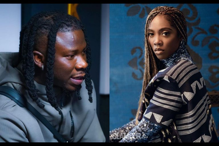 VIDEO: Stonebwoy Seen Begging Tiwa Savage For A Collaboration