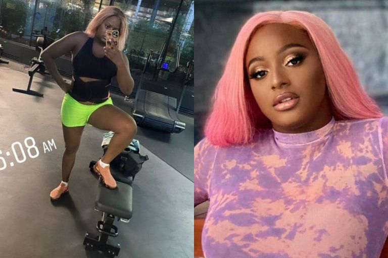PHOTOS: DJ Cuppy Yields To Pressure From Social Media Users As She Finally Hits The Gym To Lose Weight And Be In Shape