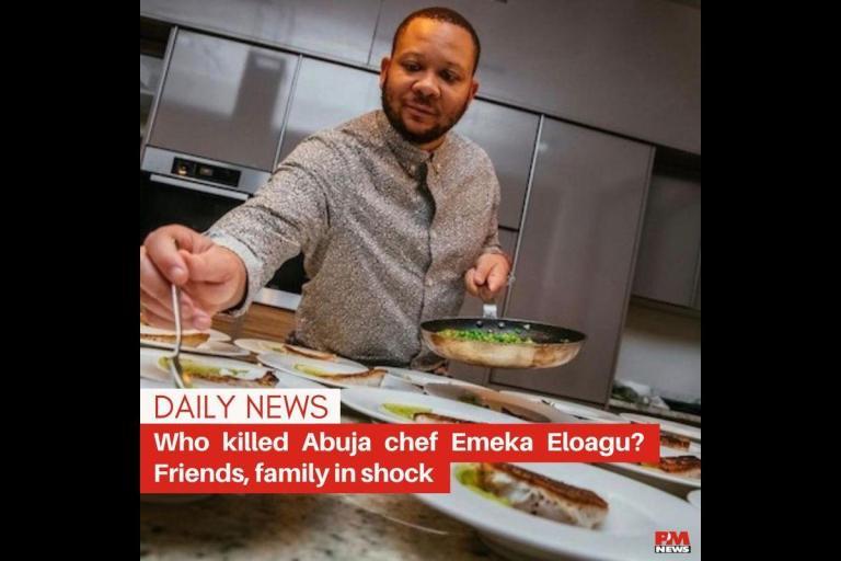 Popular Nigerian Chef, Emeka Eloagu, Found Dead In His Residence