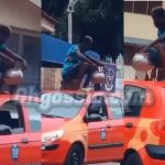 VIDEO: Man Causes A Stir For Cooking On Top Of A Moving Taxi