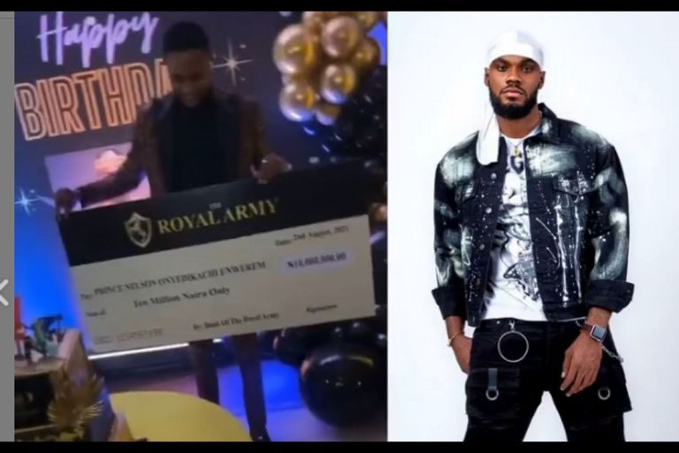VIDEO: Nigerians React As BBNaija Prince Gets N10 Million As Birthday Gift From His Fans