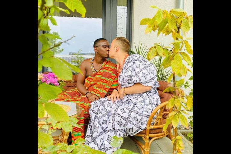 PHOTOS: Another Ghanaian Gay Man Ties The Knot With His White Partner