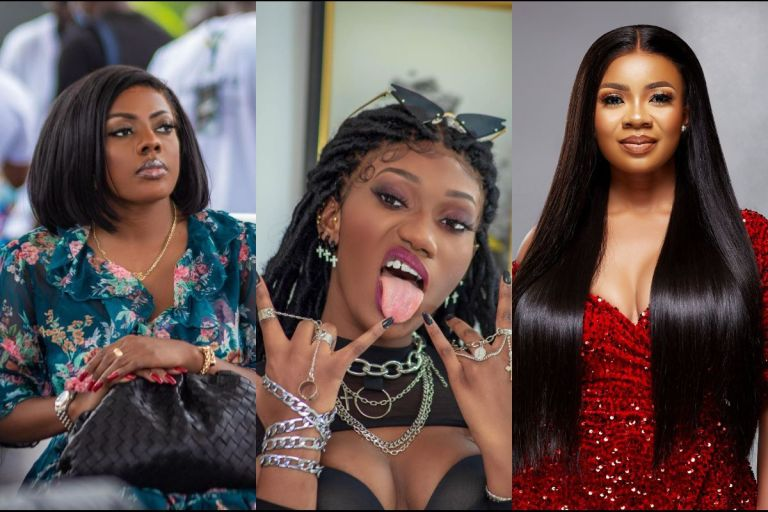 VIDEO: Show Us The Way, We Also Want To Ride In Range Rover - Wendy Shay Subtly Shades Nana Aba Anamoah And Her Puppet, Serwaa Amihere
