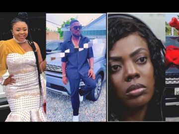 VIDEO: Adu Safowah Locked Up In Police Cells For Defaming Alleged Fraudster, Nana Doe And His Alleged S*x Doll, Nana Aba Anamoah