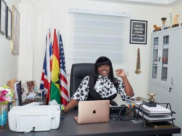 PHOTOS: Tracey Boakye Sets Up An Office Probably To Conduct Her Whoring And Snatching Of People's Husbands Business There