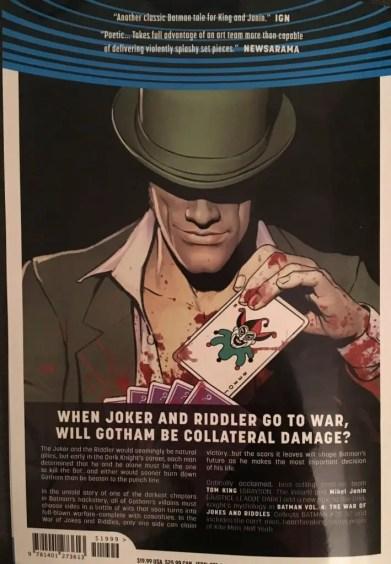 Batman Volume 4 The War of Jokes and Riddles Rear