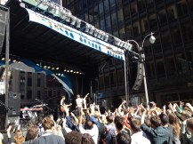 The Divine Fits take the North Stage in Times Square at the 2013 CBGB Festival.