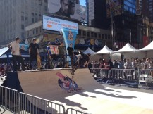 Skaters at the 2013 CBGB Festival in Times Square.