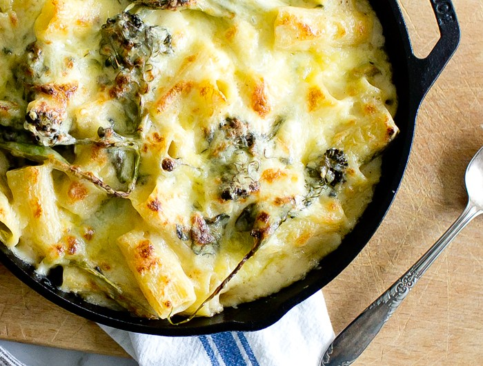 Rigatoni and Cheese with Charred Broccoli