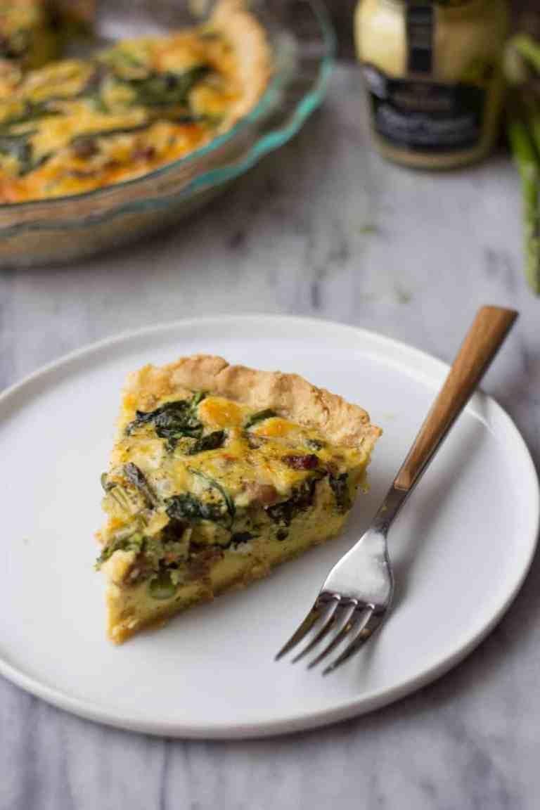 Asparagus & Sausage Quiche