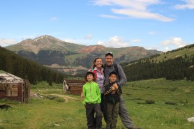 Us on Mayflower Gulch Trail