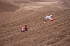 These sleds don't work at the Dunes!