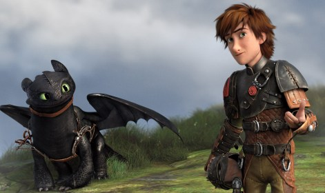 Toothless and Hiccup from the movie