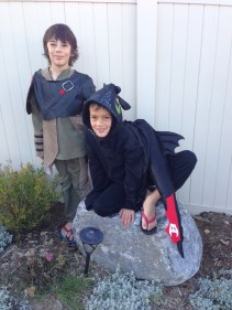 Toothless and Hiccup Halloween version!