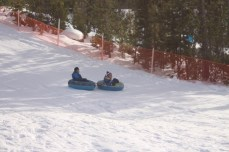 Sledding at the Nordic Center