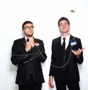 Looking for Edgy, Cool and Smart Comedy? Hire David and Leeman