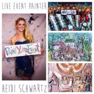 Paint Your Corporate Event with Live Painter Heidi Schwartz