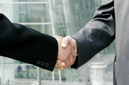 hands, shake, business