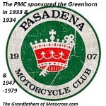 1933 & 1934 Greenhorn sponsored by Pasadena MC