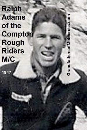 1947 Ralph Adams, a member of the Compton Rough Riders MC