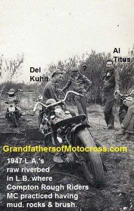 1947 a6 L.A. riverbed & Compton Rough Riders MC, Al Titus & Del Kuhn