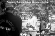 1947 c2 Ralph Adams, Compton Rough Riders MC in shirts, out for a ride