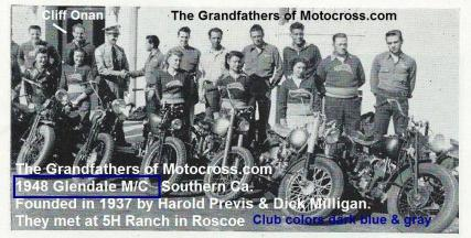 1948 7-0b Cliff Onan of Glendale MC Harold Previs & Dick Milligan