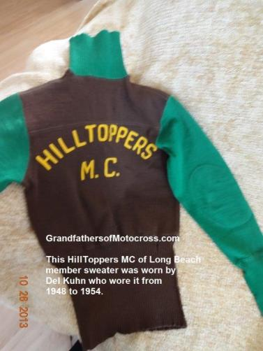 1948 b3 Del Kuhn Long Beach HillToppers MC sweater