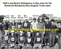 1948 c1 11-0d Hilltoppers MC Long Beach in San Jose English Trials & take most trophies