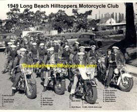 1949 c. HillToppers mc Del Kuhn way in back out for a club ride