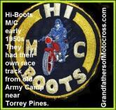 1952 4-0a San Diego Hi boots High Boots MC patch emblem