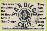 1952 4-0a San Diego Hi-boots MC logo emblem