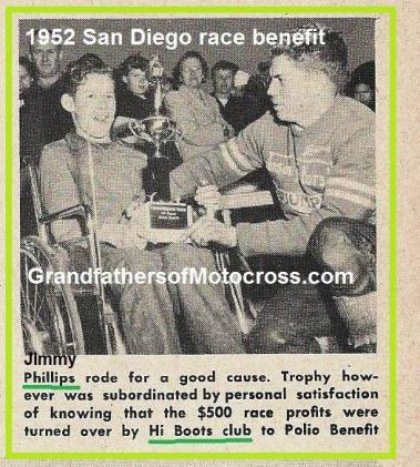 1952 4-0b3 San Diego Hi-boots MC polio benefit, winner Jimmy Phillips wins