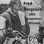 1961 Greenhorn winner Fred Borgeson c. 1963