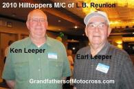 2010 a7 Hilltoppers MC Reunion brothers, Ken Leeper & Earl Leeper